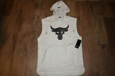 Under Armour Men's Project Rock Sleeveless Hoodie 7181 Size M (Summit White) NWT