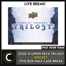 2020-21 UPPER DECK TRILOGY HOCKEY 5 BOX HALF CASE BREAK #H1084 - PICK YOUR TEAM