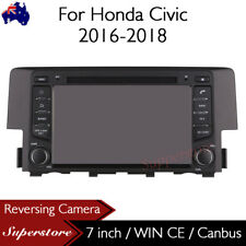 7 inch Car DVD GPS Player Navigation Head Unit Stereo For Honda Civic 2016-2018