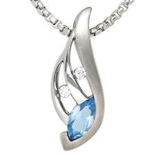 Beschichtete Echtschmuck-Halsketten & -Anhänger mit Zirkon-Hauptstein für Damen