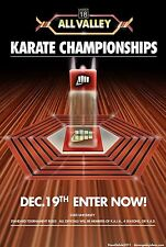 """Karate Kid Tournament All Valley Silk Fabric Poster 11""""x17"""" From 1984"""