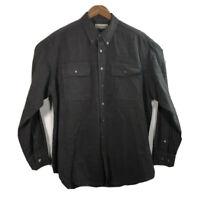 Fieldmaster Men's Size L Shirt Gray Long Sleeve Front Button