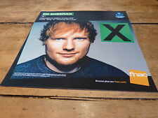 "ED SHEERAN - ""X"" !!!!! !FRENCH RECORD STORE PROMO ADV / DISPLAY!!"