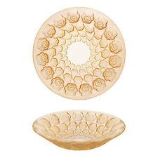 Lalique Crystal Anemones Bowl Gold Luster BNIB