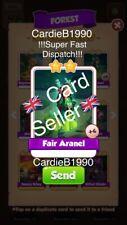 X1 Fair Aranel Coin Master trading card !!!Super Fast Dispatch!!! 99p sale!!
