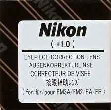 Nikon FM3A ,FM2,FA,FE Eyepiece Diopter lens +1 Genuine Nikon