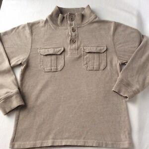 GAP MOCK NECK HENLEY SOFT COTTON SWEATER PULLOVER Double Knit Size Medium 8