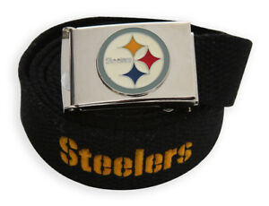 Web Belt with Buckle Pittsburgh Steelers