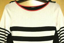 Roman Black & White Fine Knit Long Sleeve Pencil Dress Smart Size UK 14