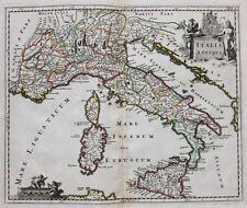 """ORIGINALE ANTICO MAPPA ITALIA, """"ITALIA ANTIQUA"""", PHILIPP Cluver, Cluverius, c.1697"""
