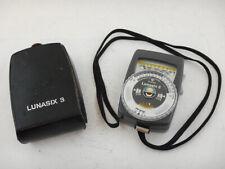 GOSSEN LUNASIX 3 Light Exposure Meter Esposimetro GERMANY with CASE and Strap