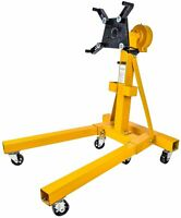 JEGS 80102 Folding Engine Stand w/ Geared Rotating Head 1500 lb. Capacity Folds