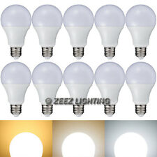 10X 9W Daylight Cool White LED Light Bulbs A-Shaped A19 EQ.75W Incandescent Lamp