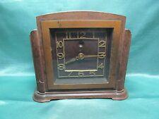 Art Deco Bakelit Tisch-Uhr 20/30er J.elektrifiziert ,England