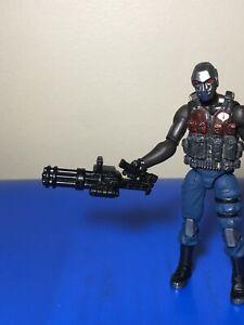 "Black Mini Gun x1 1/18 Scale For 3 3/4"" G.I. Joe Marvel Or Star Wars Figures"