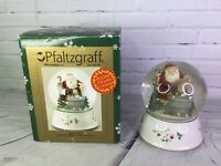 Pfaltzgraff WINTERBERRY Series 4 Snow Globe Within Globe Santa Clause Christmas