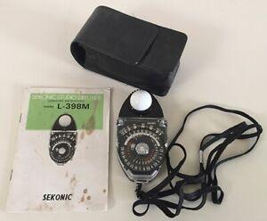 Sekonic Studio Deluxe Light Meter with case, L-398M. Used in studio.
