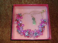 BUTLER & WILSON PINK & CLEAR FLOWER NECKLACE - NEW & BOXED