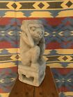 Asian Hand Carved Stone Antique Carving Monkey On pedestal, 18th-19th C.