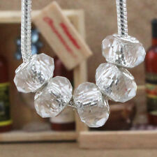 5pcs Silver MURANO GLASS BEAD LAMPWORK For European Charm Bracelet/Necklace