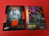 DREW LOCK ROOKIE JERSEY CARD NATIONAL+ 2019 ILLUSIONS ROOKIE CARD DENVER BRONCOS