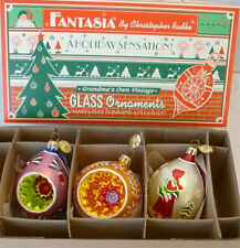 Christopher Radko Fantasia Select Edition Set 3 Ornaments Ltd Numbered Box 2001