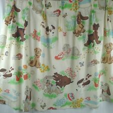 Kids Curtains Pound Puppies Pinch Pleat 2 Panels Cutter Fabric Vintage 1985