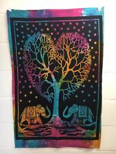 Indian Tapestry Poster Mandala WallHanging Throw Bed Tapestries Love Elephants