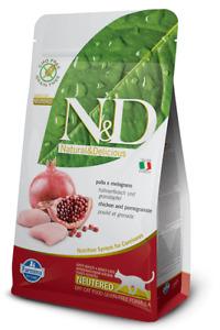 Farmina N&D Getreidefrei Huhn&Granatapfel Trockenfutter für kastrierte Katzen