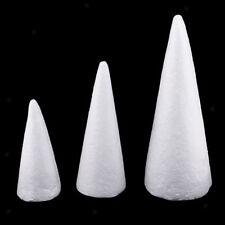 3x 15/20/25cm Cone Shape Styrofoam Foam for Handmade Modelling Kid Craft DIY