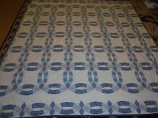 Nice Light Weight Printed Double Wedding Ring Quilt