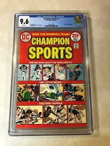 CHAMPION SPORTS #1 CGC 9.6 NM+ oakland a's baseball hurdle 1973 DC STUNNING