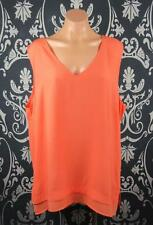 "KATIES SIZE 18 PLUS WOMANS, ORANGE SLEEVELESS BLOUSE ""NEW"""