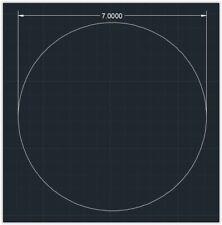 1pc Acrylic Plastic Plexiglass Round Sheet 18 X 7 Circle Clear