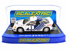 "Scalextric ""Shell"" Ford RS200 Stig Blomqvist DPR Lights 1/32 Slot Car C3493"