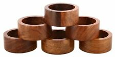 Rustic Wood Napkin Ring (Set Of 6) Party/Wedding Hand Crafted Table Home Décor