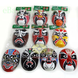 1/3/5/10PCS Masquerade Paper Pulp Hand Painted Costume Party Peking Opera Masks
