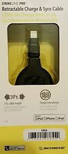 New! SCOSCHE STRIKE Line Pro  Retractable iPhone Lightning & x SYNC Cable