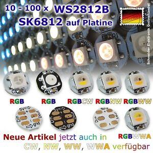 10 - 100x WS2812B / SK6812 5V adressierbar RGB RGBW 5050 LED PCB Platine Arduino