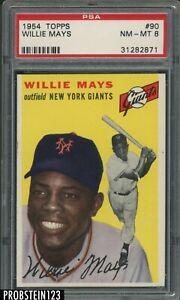 """1954 Topps SETBREAK #90 Willie Mays New York Giants HOF PSA 8 """" RAZOR SHARP """""""