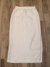53a19f5e400 Eileen Fisher Simple Yet Stylish White Linen Skirt Fits Size 12