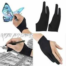 Black Two Finger Anti-fouling Gloves For Artist Tablet Pad Drawing & Pen Graphic