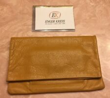 ENGER KRESS Butterscotch Color Leather Bifold Wallet/Clutch-Never Used-4.5H X 7L