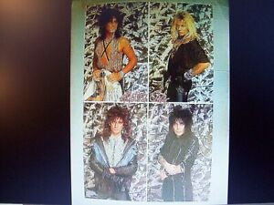SEALED MOTLEY CRUE Band Poster Vintage Girls Girls Girls Dr Feelgood 1987 LP NEW