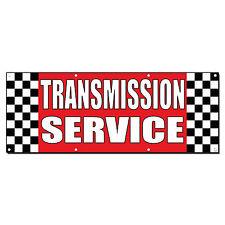 Transmission Service Auto Body Shop Car Repair Banner Sign 2' x 4' /w 4 Grommets
