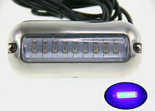 "Pactrade Marine  Boat Pontoon Blue 27 LED Underwater Light  S.S 316 3 3/4"" L"