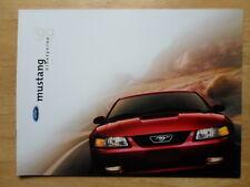FORD MUSTANG 1999 USA Mkt Large Format Prestige Brochure Prospekt Catalogue - GT