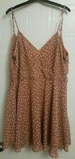 size 16 Primark summer dress white dots spotty spots nice colour