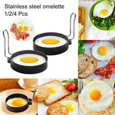 Metal Egg Frying Ring Circle Round Fried Poach Non-Stick Cooker Mold With Handle