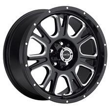 """17"""" Vision 399 Fury Black Milled Wheel 17x8.5 6x135mm 25mm Ford Lincoln 6 Lug"""